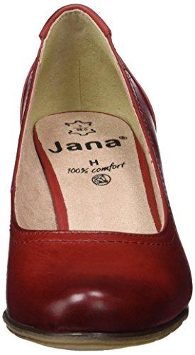 Jana 22404, Scarpe con Tacco Donna Rosso (Chili 533)