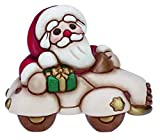 THUN - Babbo Natale in Automobile Piccolo - Bimbi e Personaggi - Ceramica - I Classici