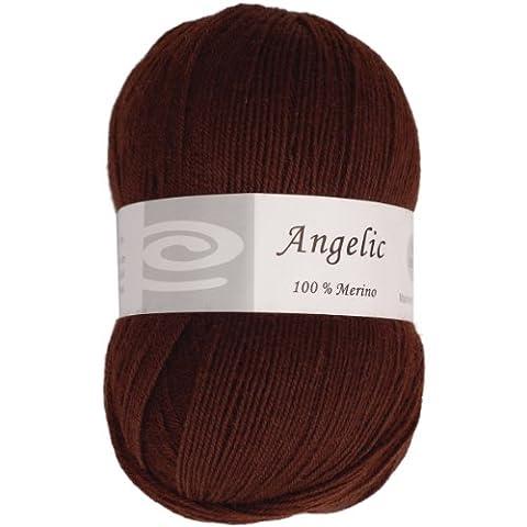 Elegant Yarns laine Angélique yarn-dark Chocolat