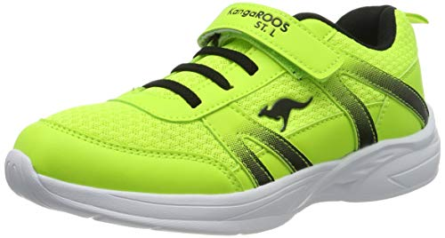 KangaROOS Unisex-Erwachsene Inko EV Sneaker, Gelb (Neon Yellow/Jet Black 7013), 37 EU