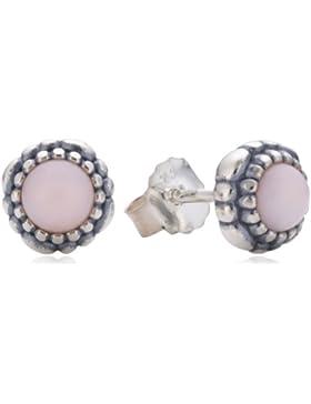 Pandora Damen-Ohrstecker 925 Sterling Silber Opal Stories rosa 290543POP