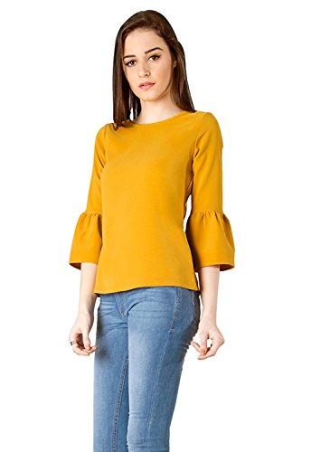 Vrati Fashion Women Tunic Short Top For Jeans Plain Diamond Creap Top For Daily wear Stylish Casual and Western Wear Women/Girls Top 2