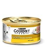 Gourmet Gold Katzenfutter Feine Pastete mit Huhn, (12 x 85 g)