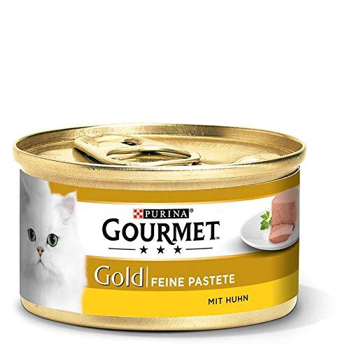 Purina GOURMET Gold Feine Pastete, hochwertiges Katzennassfutter, Tiernahrung, zarter Genuss, für anspruchsvolle Katzen, 12er Pack (12 x 85 g Dose) -