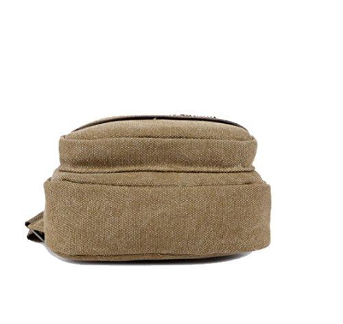 BULAGE Taschen Männer Brusttaschen Lässig Leinwand Schulter Retro Reist Arbeit Einkaufen Multifunktionale Outdoor Sport Khaki