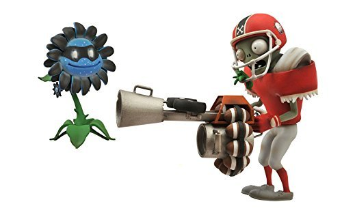 Preisvergleich Produktbild Diamond Select Toys Plants vs. Zombies: Garden Warfare: All-Star Football Zombie with Imp Bomb and Dark Sunflower with Marigold Select Action Figure (2-Pack) by Diamond Select