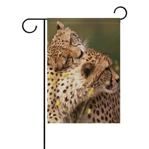LINDATOP Geparden-Flagge, 30,5 x 45,7 cm, doppelseitig, Hofdekoration, Polyester, für den Außenbereich, Party, Party, Polyester, Multi, 12x18(in)