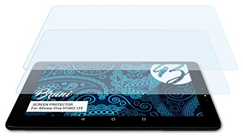 Bruni Schutzfolie kompatibel mit Allview Viva H1002 LTE Folie, glasklare Bildschirmschutzfolie (2X)