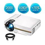 SongKai88 Projektor Video Mini Projektor Portable Home Theater Projektor 5000 Stunden LED-Lebenshilfe 1080P, Filme, Spiele,White