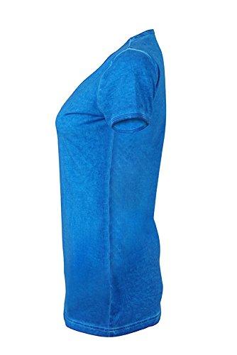 James & Nicholson Damen Ladies' Gipsy T-Shirt Blau (Atlantic)
