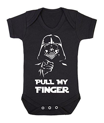 Darth Vader Pull my Finger funny star wars Black babygrow bodysuit