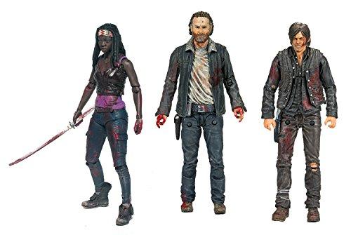 The Walking Dead Actionfiguren set Rick, Michonne, Daryl