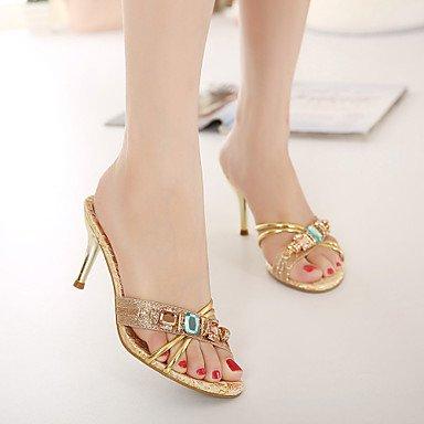 LvYuan Da donna-Sandali-Formale-Altro-A stiletto-Finta pelle-Argento Dorato Gold