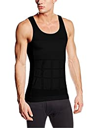 SODACODA Men's Stretchy Firm Tummy Belly Control Man Slimming Body Shaper Vest Undershirt Magic Compression (S-XXL)
