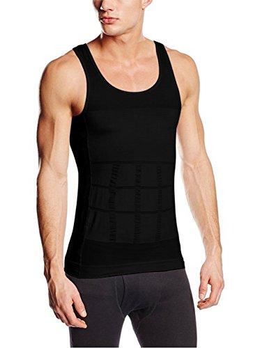 07fd90da72 Sodacoda Stretchy Firm Tummy Belly Control Slimming Body Shaper Vest  Undershirt Magic Compression (M