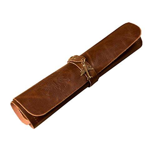 Retro-minimalistischen PU Leder Stift Bleistift Kosmetiktasche Handtasche Tasche großes Geschenk