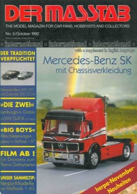 Der masstab. The model magazin car fans, hobbyists and collectors.