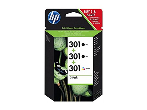 HP original – HP – Hewlett Packard OfficeJet 4632 (301 / E5Y87EE) – 3 x Druckkopf Multipack black black color