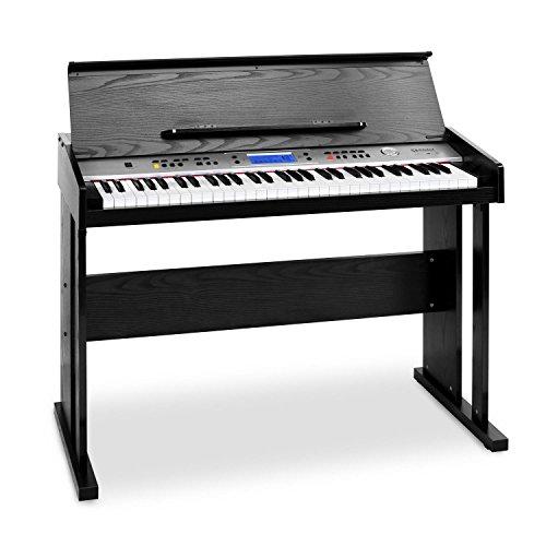 Schubert Carnegy-61 • Keyboard • E-Piano • 61 Tasten • 100 Rhythmen • 136 Instrumente • 8 Demosongs • Anschlagdynamik • Aufnahme-Funktion • schwarz