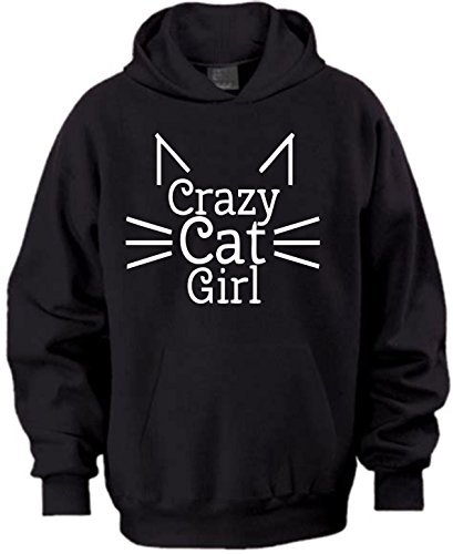 magic moments Crazy Cat Girl Humour Funny Party Present Christmas Gift Black Kids Hoodie