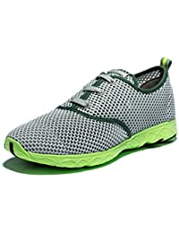 Viihahn Men's Breathable Mesh Lace-Up Quick Drying Aqua Water Shoes