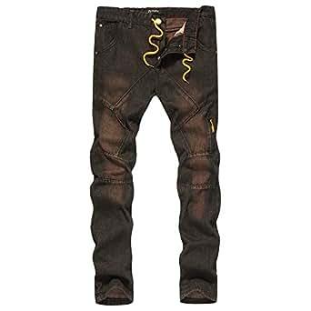 85ee836d67e9 Bild nicht verfügbar. Keine Abbildung vorhanden für. Farbe  Celucke Skinny  Jeans Hosen Herren ...