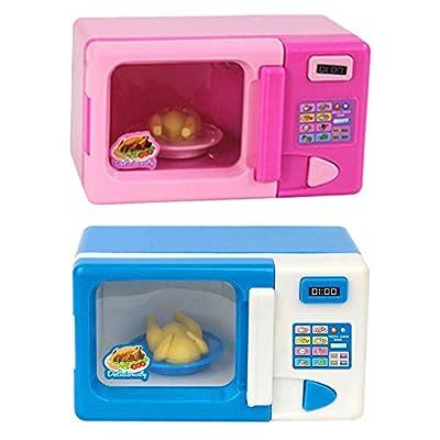 Microondas Juguete Para Niños Cocina Juego De Simulación Juguete Vajilla Horno Mini Simulación Juguete Educativo Eléctrico Con Luces, Juego De Simulación Electrónico Juguetes Para 2 3 4 5 6 Años