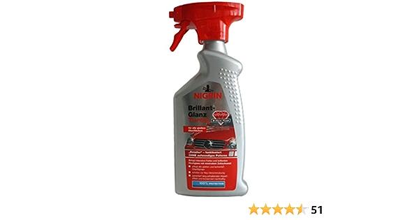 Nigrin Brillant Glanz Turbo Detailer 500ml Spray Lack Konservierung Pflege Wachs Glanz Versieglung Auto
