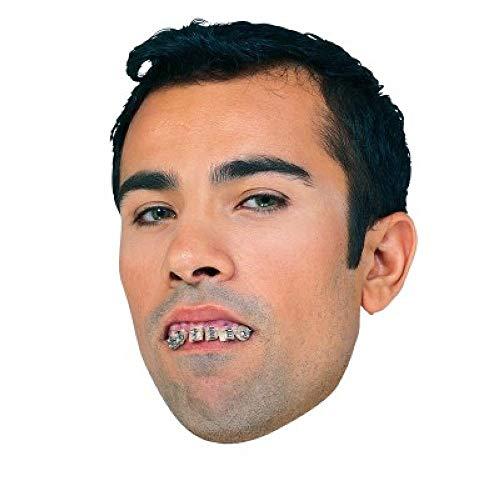 hiefe Zähne mit Zahnspange Kostüm-Zubehör falsches Gebiss Zahnlücke Nerd Streber ()