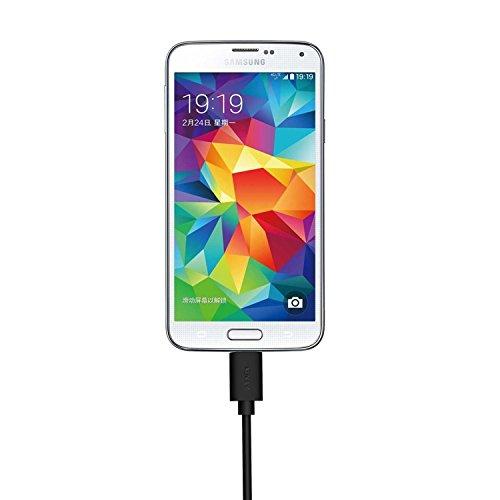 AUKEY Cable Micro USB (6 Pack: 3m x 1, 2m x 1, 1m x 2, 0.3m x 2) Cable USB de Datos Cable de Carga Rápida para Android Smartphone Samsung Galaxy S7 / S7 Edge / S6, Huawei, Sony, HTC etc. - Negro