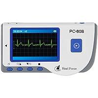 Heal Force - ECG Monitores de electrocardiograma Portátil (Pantalla LCD, Señal ECG Sólo Canal, 17 Ondas, Frecuencia Cardíaca)