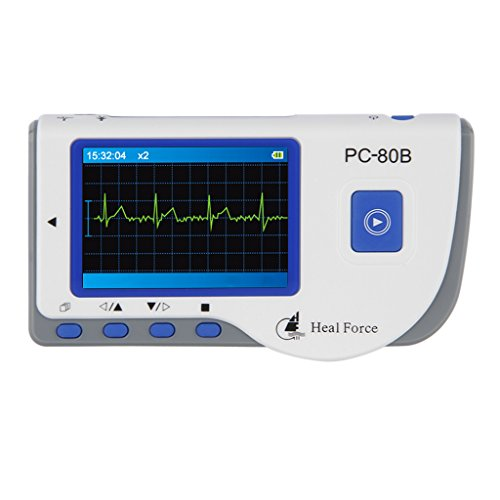 Heal Force Mini Hand EKG-Gerät ECG-Monitor Patienten Monitor EKG-Kabel 50 ECG Elektroden mit Software