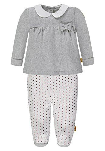 Steiff Baby-Mädchen Bekleidungsset 2tlg. Set Sweatshirt + Hose, Grau (Snow Grey Melange|Gray 8359), 62