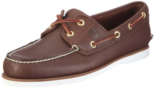 Timberland - Scarpe da barca Classic Boat FTM_Classic 2 Eye, Uomo, Marrone (Braun (Dark Brown Smooth)), 43