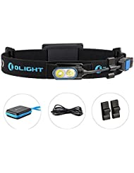 Olight® HS2 aufladbar LED Stirnlampe Running Light Kopflampe mit Cree XP-G2 CW LED - inkl. 1 x 3.7V 2000mAh Lipo - Ultra leicht