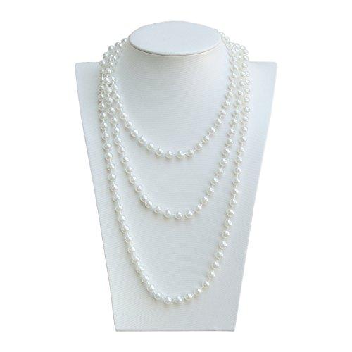 Oblique-Unique® Perlenkette 180cm für Charleston Kostüm 20er Jahre Perlen (Lange Perlen)