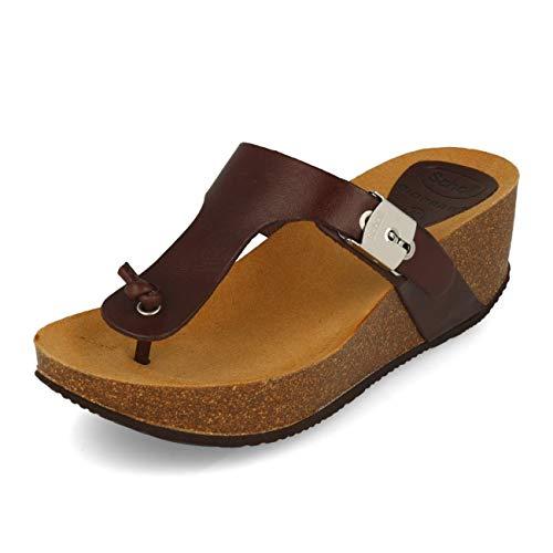 Dark Bronze Leder Schuhe (Scholl Edna 2.0 Dark Brown Bronze 40)