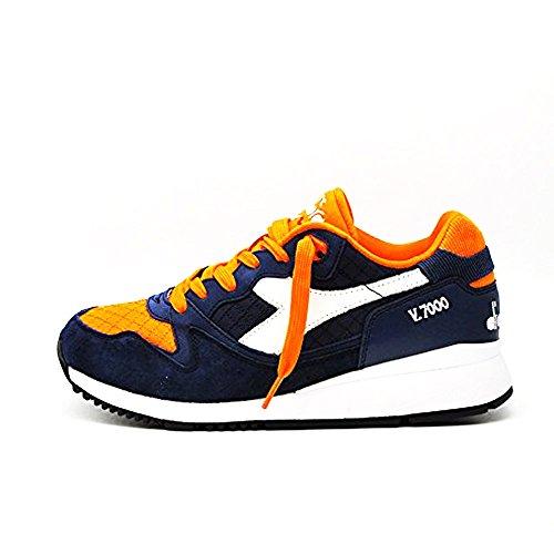 Pan Man Chaussures Diadora V7000 501,170951 (43-60024 Été Bleu-blanc)