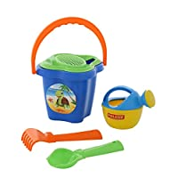 Polesie 4474 237 Sieve Shovel No. 2 Rake No. 2 Small Watering Can No. 3-Sets: Flower Bucket, Medium, Multi Colour