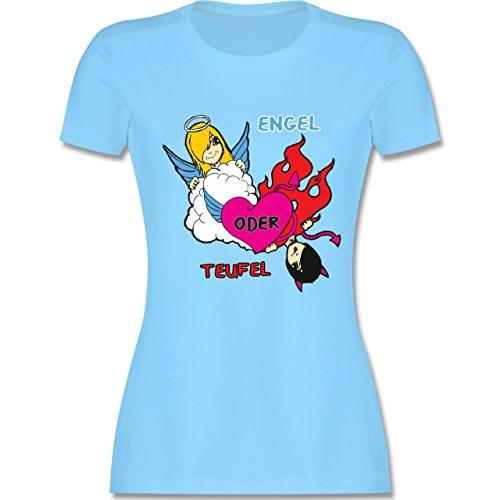 Typisch Frauen - Engel oder Teufel - tailliertes Premium T-Shirt mit  Rundhalsausschnitt für Damen