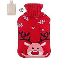 Gummi-Wärmflasche mit Flaschenabdeckung 2L - Cute Small Elk preisvergleich bei billige-tabletten.eu