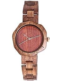 fullant mujeres de madera reloj, Fashion Top marca Luxury Cuarzo Pulsera muñeca relojes mejor cumpleaños regalo para el día de la madre