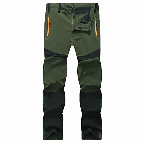 Jeans Herren Sunday Wasserdichte im Freien Wandernde Kletternde Warme Hosen Taktische der Männer (Armee grün, 3XL)