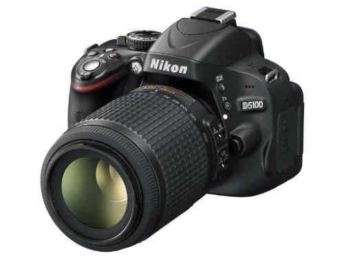 Nikon D5100 SLR-Digitalkamera (16 Megapixel, 7.5 cm (3 Zoll) schwenk- und drehbarer Monitor, Live-View, Full-HD-Videofunktion) Kit inkl. AF-S DX 18-55 mm VR (bildstab.) + 55-200 mm VR (bildstb.) (Digital Slr 5100 Nikon)