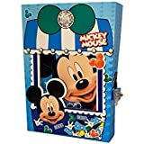 Mickey Mouse Lock Diary For Girls / Mickey Mouse Secret Diary / Mickey Mouse Diary / Diary With Pad Lock / Mickey Mouse Theme Gift ( 1 Pcs )