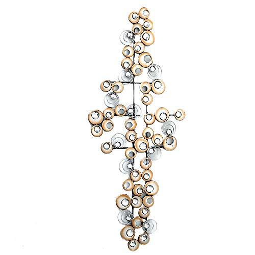 Boltze Design Wand Objekt Eisen Bild Kristall Kreis Muster Dekoration Behang Champagner 7641800 -