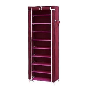 Songmics scarpiera armadio cabina guardaroba in acciaio - Bricorama muebles ...