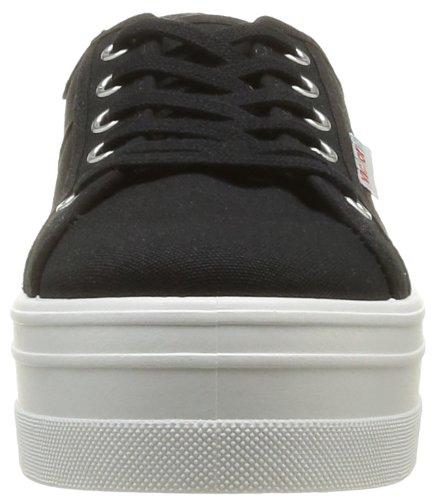Victoria Basket Lona Plataforma, Sneaker Woman Black (negro)