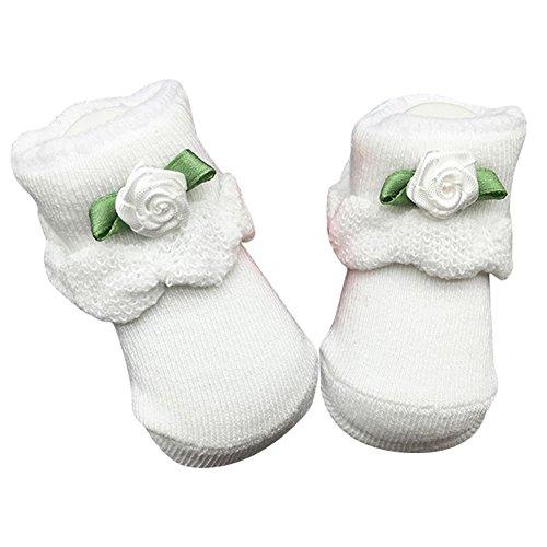 exiu-bebe-garcon-fille-coton-dentelle-florale-ruffle-frilly-chaussette