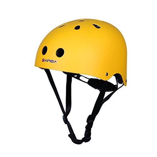 Helm Abseilen (MagiDeal Professionell Kletterhelm mit Luftloch, Atmungsaktiv für Bergsteigen, Abseilen, Skateboard Sport Helm, Rettungshelm, Sicherheitshelm - Gelb)